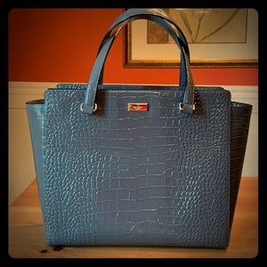 Kate Spade Crocodile Patent Leather Tote